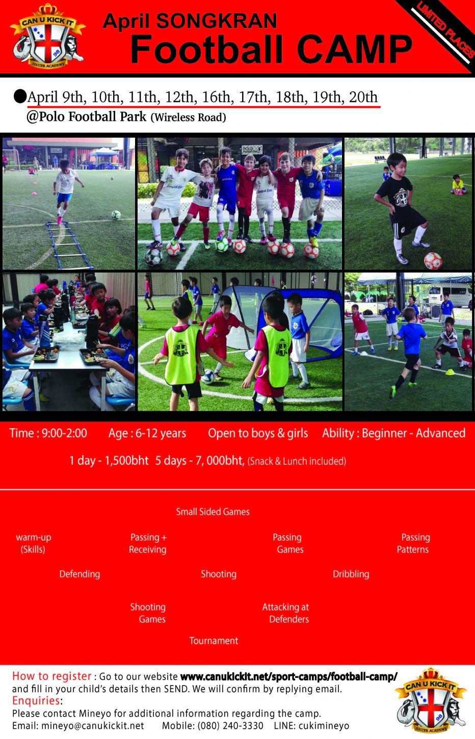 April Songkran Soccer Camp 2018